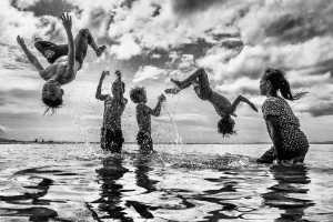 PSM Bronze Medal - Chin Leong Teo (Japan)  Children Happy Jump Bw 4