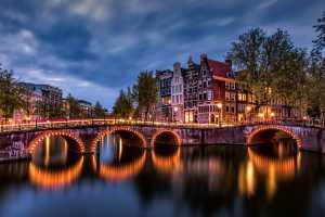 PhotoVivo Gold Medal - Ranajabeen Nawab (India)  Classic Amsterdam Blue Hour