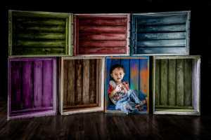 RPST Honor Ribbon - Siew Thong Chu (Malaysia)  Colourful Wooden Box