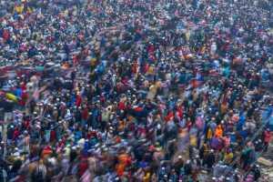 PhotoVivo Gold Medal - Lin Zhang (China)  The People Sea