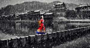 PhotoVivo Gold Medal - Shenghua Yang (China)  Charming Snowy Ancient Town