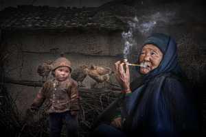 PSM Silver Medal - Ching Ching Chan (Hong Kong)  My Smoking Grandma