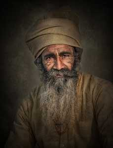 APAS Honor Mention e-certificate - Suniel Marathe (India)  Old Man Portrait