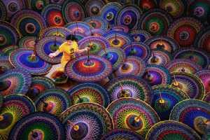 Honor Mention - Kyaw Soe Latt (USA)  Beautiful Umbrella