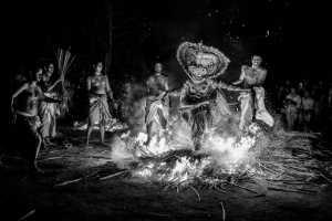 Raffles Photo Gold Medal - Vijay Rawale (India)  Bw Fire Theyyam 4