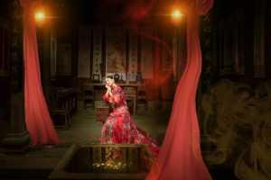 Circuit Merit Award e-certificate - Jianguo Guo (China)  Pretty Woman In Red Makeup 2
