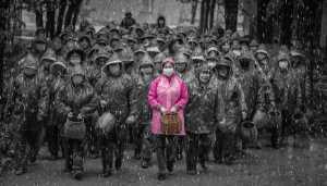 PSM Silver Medal - Sen Liang Li (China)  Tea Picking Girl In The Rain 02