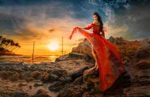 PhotoVivo Honor Mention e-certificate - Pandula Bandara (Sri Lanka)  Posing At Sunset