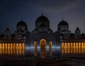 APAS Honor Mention e-certificate - Jie Fischer (USA)  The Night View Of The Grand Mosque
