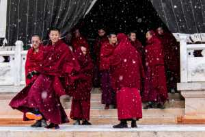APAS Gold Medal - Yonghuai Mao (China)  Monks In The Snow