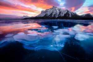 PhotoVivo Gold Medal - Min Li (China)  Lake Ice Bubble 1