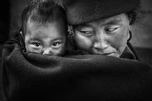 PSA Gold Medal - Lishu Shu (China)  Mother And Son
