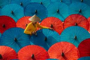 APAS Gold Medal - Than Sint (Singapore)  Colorful Umbrellas