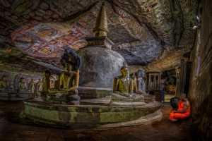 ICPE Honor Mention e-certificate - Pandula Bandara (Sri Lanka)  Praying Monk At Cave Temple