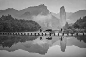 PhotoVivo Honor Mention e-certificate - Chengjun Gao (China)  Little Bridges, Flowing Water, And People
