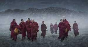 PhotoVivo Honor Mention e-certificate - Lishu Shu (China)  Monks In The Snow