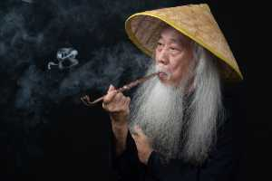 APU Winter Honor Mention E-Certificate - Win Tun Naing (Singapore)  Man Smoking A Pipe
