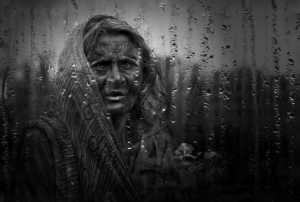 ICPE Honor Mention e-certificate - Shourjendra Datta (India)  Old Woman In Rain
