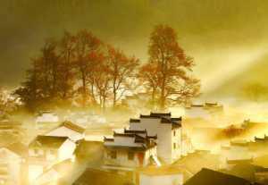 ICPE Honor Mention e-certificate - Yanzhang Li (China)  Village In Fall