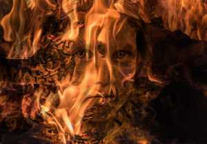PhotoVivo Honor Mention e-certificate - Abdul Baqi (Pakistan)  Burning Portrait