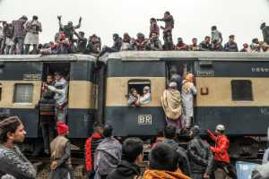 PhotoVivo Gold Medal - Guoyun Zhang (China)  The Crowded Train Festival 15