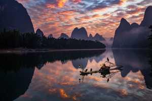 APAS Honor Mention e-certificate - Hongli Wang (China)  Fishing Junks At Sunset
