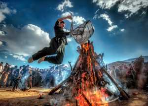 PhotoVivo Honor Mention e-certificate - Babak Mehrafshar (Iran)  Jumping On The Fire