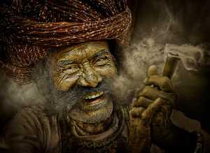 PhotoVivo Gold Medal - Suresh Bangera (India)  Rajasthani Man Smoking