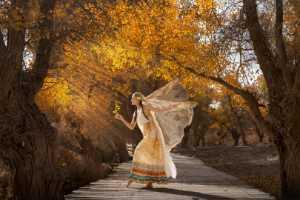 PhotoVivo Gold Medal - Zhijian Huang (China)  Dancing With Fallen Leaves