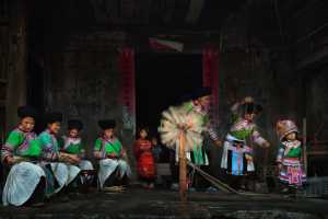 PSA HM Ribbons - Ping Lu (China)  People In The Miao Village