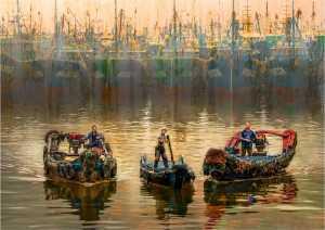 PhotoVivo Gold Medal - Yi Wan (China)  Fishing Port Dawn