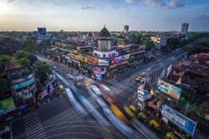 PhotoVivo Honor Mention e-certificate - Saurabh Sirohiya (India)  Busy Traffic Intersection