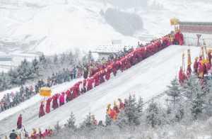 APU Honor Mention e-certificate - Qiusheng Hu (China)  Buddha In The Snow