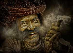 APU Honor Mention e-certificate - Suresh Bangera (India)  Rajasthani Man Smoking