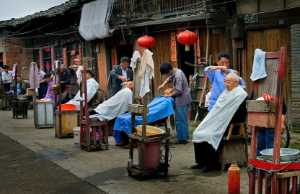 PhotoVivo Honor Mention e-certificate - Renfa Mao (China)  The Barber Shop Street