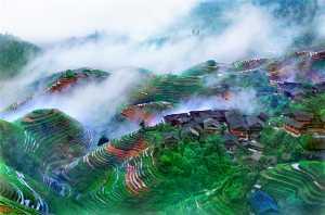 PhotoVivo Gold Medal - Tong Hu (China)  Mist Mountain Village