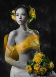 APAS Gold Medal - Zhendong Wu (China)  Yellow Roses