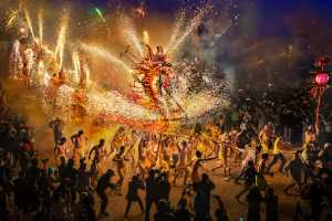 PSA Gold Medal - Im Kai Leong (Macau)  New Year Fire Dragon