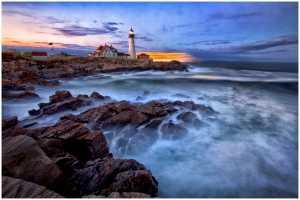 PSA Gold Medal - Thomas Lang (USA)  Portland Head Lighthouse At Dawn