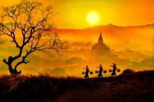 Raffles Merit Award E-Certificate - Sai Ko Latt (Myanmar)  Beautiful Of Bagan Sunset