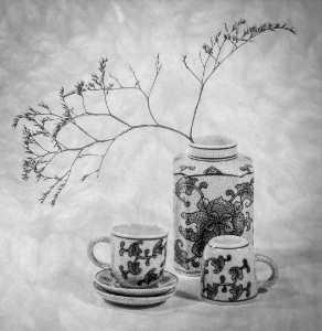 PhotoVivo Honor Mention e-certificate - Margaret Boike (USA)  Tea Set High Key
