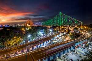 APAS Honor Mention e-certificate - Saurabh Sirohiya (India)  Tricolor Howrah Bridge