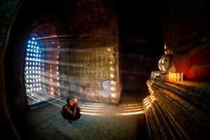 APAS Honor Mention e-certificate - Win Tun Naing (Singapore)  Ray Of Light Shining Through The Window In Pagoda