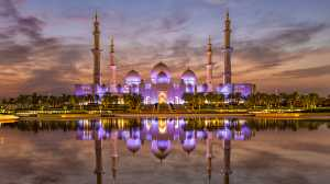 PSA Gold Medal - Venisiana Dharmayanthi (Indonesia)  Sunset At Sheikh Zayed Mosque
