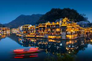 PhotoVivo Honor Mention e-certificate - Qingsheng Sun (China)  Night Of Fenghuang Ancient Town