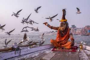 Raffles Honor Mention E-Certificate - Santanu Mukherjee (India)  Sadhu On Boat