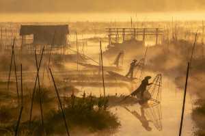 Raffles Honor Mention E-Certificate - Konyi Calisto (Myanmar)  Fishermen At Work At A Morning