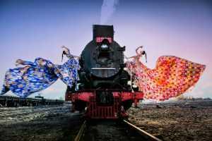 APU Gold Medal - Huijun Zhong (China)  Double Beauties By The Train