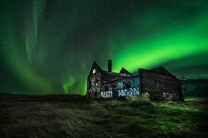 PhotoVivo Gold Medal - Vijay Rawale (India)  Aurora Over Abandoned House