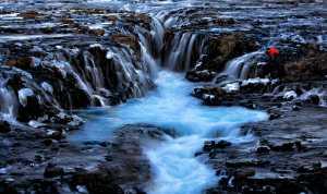 PhotoVivo Honor Mention e-certificate - Louise Xie (USA)  Photographer On Bruarfoss Waterfall